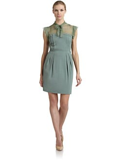 Philosophy di Alberta Ferretti - Silk & Stretch Wool Jersey Dress
