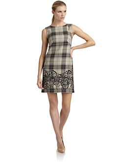 Philosophy di Alberta Ferretti - Printed Wool Sleeveless Shift Dress