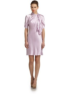 Philosophy di Alberta Ferretti - Satin Tie-Neck Dress