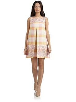 Philosophy di Alberta Ferretti - Plaid Floral Wool Jumper Dress