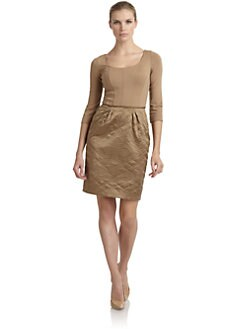 Philosophy di Alberta Ferretti - Knit & Quilted Silk Dress