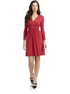 Philosophy di Alberta Ferretti - Surplice Neck Jersey Dress