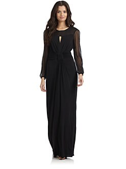 Philosophy di Alberta Ferretti - Illusion Yoke Jersey Dress