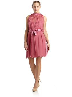 Alberta Ferretti - Silk Chiffon & Satin Dress