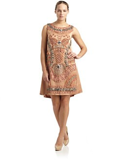 Alberta Ferretti - Embellished Silk Dress