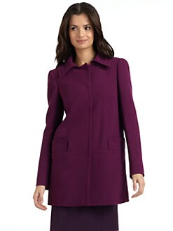 Alberta Ferretti - Wool Crepe Long Jacket
