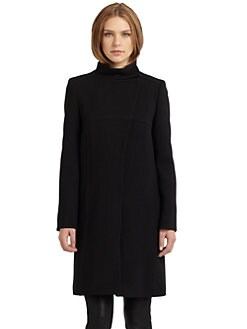 Alberta Ferretti - Wool Snap-Front Coat
