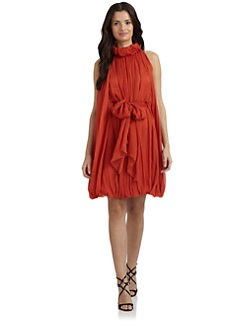 Alberta Ferretti - Crinkled Silk Chiffon Dress