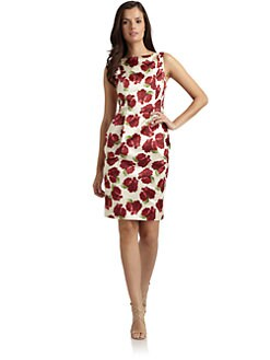 Moschino - Rose Print Sateen Dress