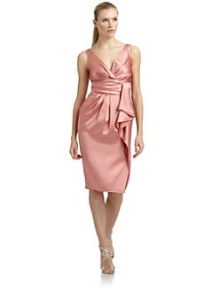 Moschino - Ruched Satin Dress/Pearl Pink