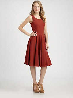 La Via 18 - Full-Skirted Jersey Dress