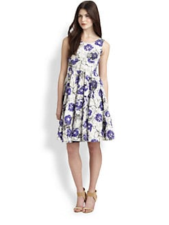 La Via 18 - Abstract Floral A-Line Dress