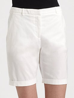 La Via 18 - Stretch Cotton Bermuda Shorts