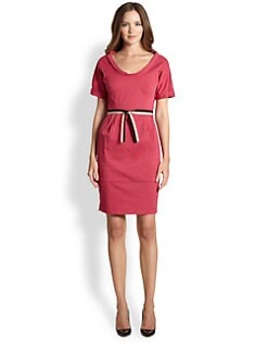 La Via 18 - Fold-Over Neck Dress