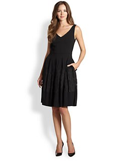 La Via 18 - Crepe Full-Skirt Dress