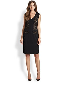 La Via 18 - Lace-Panel Dress