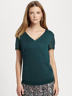 La Via 18 - Wrap-Front Sweater