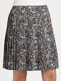 La Via 18 - Pleated Paisley Skirt