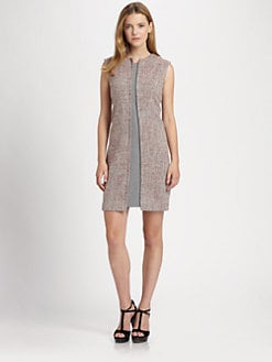 La Via 18 - Mixed-Media Shift Dress