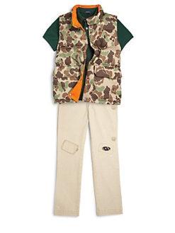 Ralph Lauren - Boy's Elmwood Reversible Camo Vest