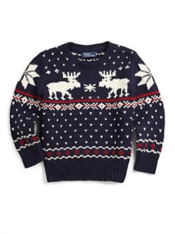 Ralph Lauren - Toddler's & Little Boy's Reindeer Sweater