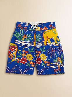 Ralph Lauren - Toddler's & Little Boy's Tropical Swim Trunks