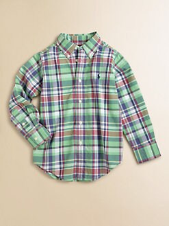 Ralph Lauren - Toddler's & Little Boy's Blake Poplin Shirt