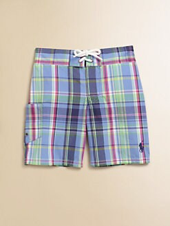 Ralph Lauren - Toddler's & Little Boy's Plaid Swim Trunks