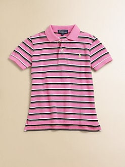 Ralph Lauren - Toddler's & Little Boy's Striped Mesh Polo Shirt