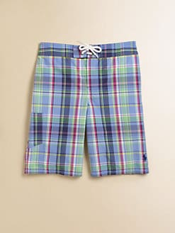 Ralph Lauren - Boy's Plaid Swim Trunks