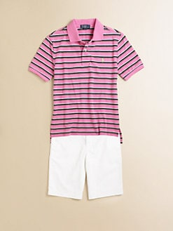 Ralph Lauren - Boy's Striped Mesh Polo Shirt