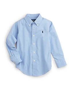 Ralph Lauren - Toddler's & Little Boy's Tattersal Dress Shirt