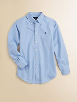 Ralph Lauren - Boy's Tattersal Dress Shirt