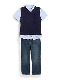 Ralph Lauren - Toddler's & Little Boy's Cable-Knit Vest