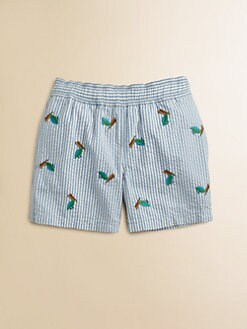 Ralph Lauren - Toddler's & Little Boy's Seersucker Swim Trunks