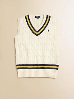 Ralph Lauren - Boy's Striped Cable-Knit Vest
