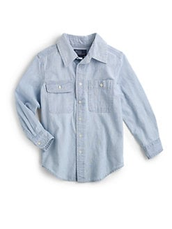 Ralph Lauren - Toddler's & Little Boy's Chambray Patch Shirt