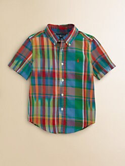 Ralph Lauren - Toddler's & Little Boy's Madras Blake Shirt