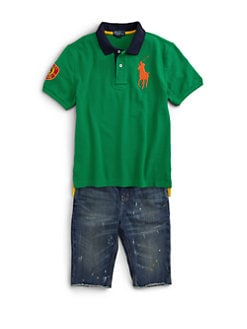 Ralph Lauren - Boy's Mesh Big Pony Polo Shirt