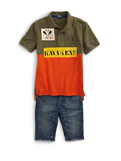 Ralph Lauren - Boy's Novelty Colorblock Mesh Polo Shirt