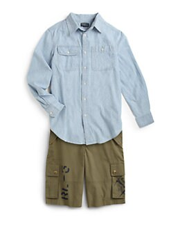 Ralph Lauren - Boy's Chambray Patch Shirt