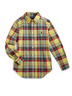 Ralph Lauren - Boy's Blake Madras Plaid Shirt