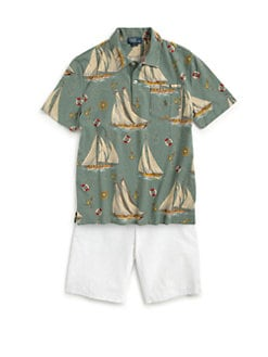 Ralph Lauren - Boy's Sailboat Polo Shirt