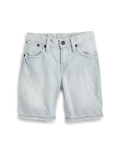 Ralph Lauren - Toddler's & Little Boy's Striped Denim Utility Shorts