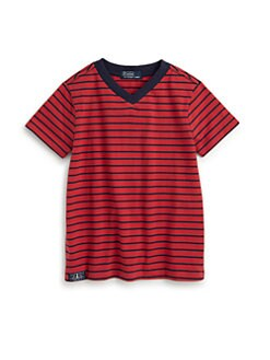 Ralph Lauren - Toddler's & Little Boy's Striped V-Neck Tee