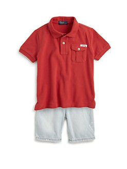 Ralph Lauren - Toddler's & Little Boy's Military Polo Shirt