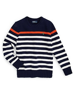 Ralph Lauren - Boy's Striped Crewneck Sweater