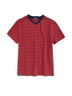Ralph Lauren - Boy's Striped V-Neck Tee