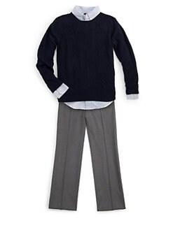 Ralph Lauren - Boy's Custom-Fit Striped Shirt