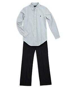 Ralph Lauren - Boy's Custom-Fit Striped Dress Shirt